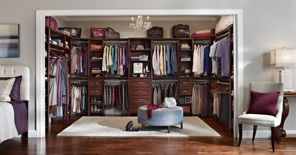 interior-great-luxury-walk-in-closet-ideas-with-vintage-brown-wooden-closet-shelving-and-rounded-blue-cushion-over-the-crystal-chandeliers-fabulous-luxury-walk-in-closet-pictures