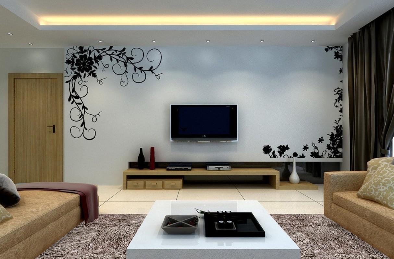 Tv Wall Design Wallpaper :