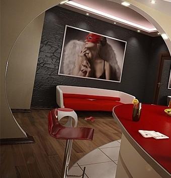 ერთ ოთახიანი ბინის გლამურული დიზანი – ვირტუალური ტური