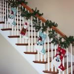 შიდა კიბეების მოაჯირების გაფორმება საახალწლოდ ნებისმიერი გემოვნებისთვის