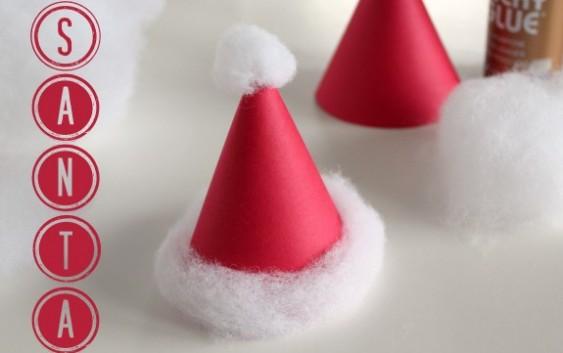 სანტას ქუდები – სახალისო დეკორაციის ფოტო გაკვეთილი