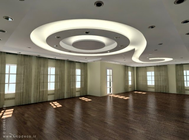 gypsum-false-ceiling-design-with-LED-lights-for-open-rooms