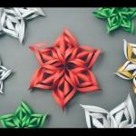 როგორ გავაკეთოთ 3D ქაღალდის ფიფქი