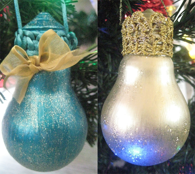 diy-christmas-tree-ornaments-light-bulbs-paint-glitter