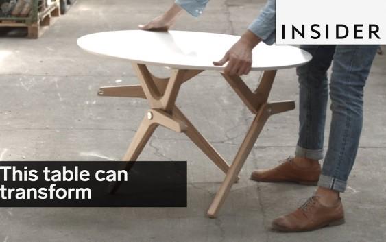 მაგიდა ტრანსფორმერი პატარა სივრცისთვის