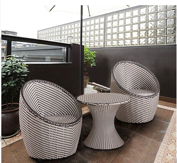 Cane-three-piece-tea-table-The-cafe-tables-and-font-b-chairs-b-font-The-balcony