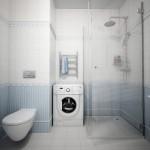 როგორ მოვათავსოთ სარეცხის მანქანა სააბაზანოში – 5 მაგალითი