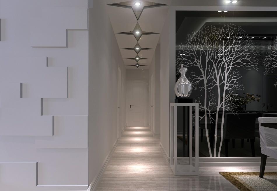 two-bedroom-decoration-door-entrance-hallway-ceiling-decoration-effect