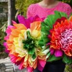 ქაღალდის ყვავილების დამზადება : ფოტო გაკვეთილი