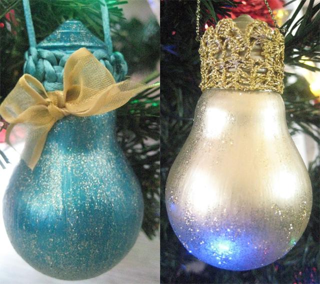 diy-christmas-tree-ornaments-light-bulbs-paint-glitter
